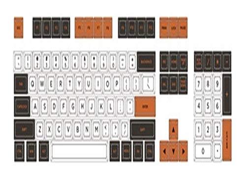 Tapas de teclado 1 Set SA Perfil tema del carbono Advertencia clave teclado Cap mecánico Sublimación Los nombres de teclas for MX Interruptores tapas de teclado mecánico ( Color : 104 keys )