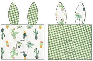 YYBF Almohada de bebé estereotipo Almohada Anti-Parcial Cabeza Hueso Almohada 0-1 año de Edad Almohada de algodón Transpirable Almohada de algodón Todo algodón Cactus Verde