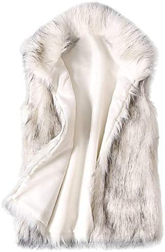 WOSHUAI 2020 Ladies Faux Fur Vest Plus Size Casual Sherpa Fleece Stand Collar Waistcoat Sleeveless product image