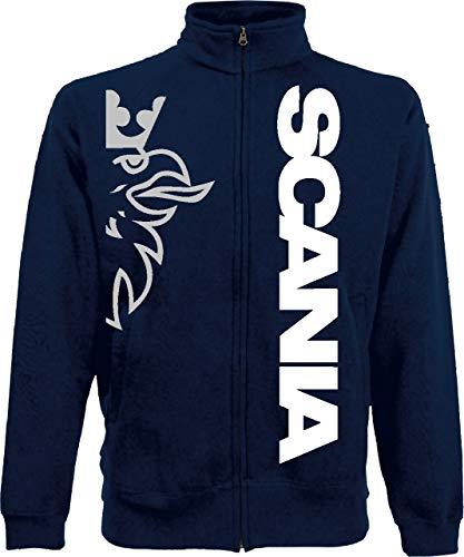 Generico Jackie Scania Vabis Truck TIR lkv Holland Style Sweat Jacket 4 Farben alle Größen(XXL, königsblau)