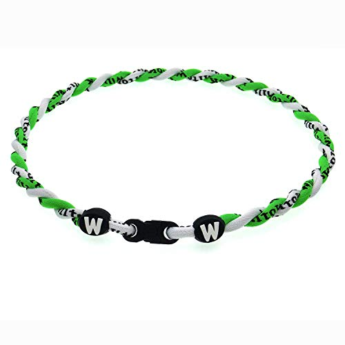 Willtok Titanium Necklace Baseball Sports Fan Gifts Necklace for Boys Kids Ages 4 5 6 7 8 9 10 11 12 13 14 15 Girls Teenages Youth Adults from Men Women Dad Mom Family (Neon Green/White)