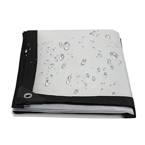 HRFHLHY transparant dekzeil winddicht regendicht scheurbestendig, dik kunststof zacht gordijn aanpasbaar