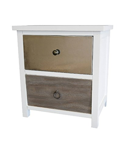 elbmoebel Cassettiera legno bianco marrone antico paese casa comodino comodino Side Board