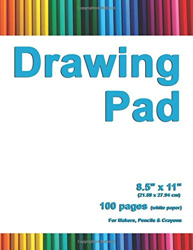Drawing Pad: 8.5' X 11', Personalized Drawing Sketchbook, 100 pages, Durable Soft Cover,Art Pencil Set-[Professional Binding]