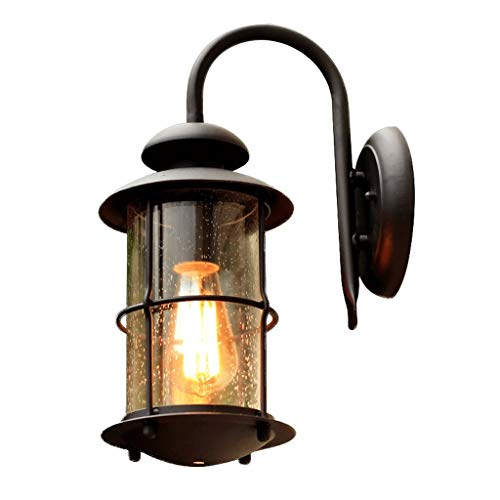 BUYAOBIAOXL Lámpara de Pared Wall Lamp Lámpara De Pared Hierro Pasillo Patio Impermeable Al Aire Libre Balcón Pasillo 17X41cm Apliques Pared