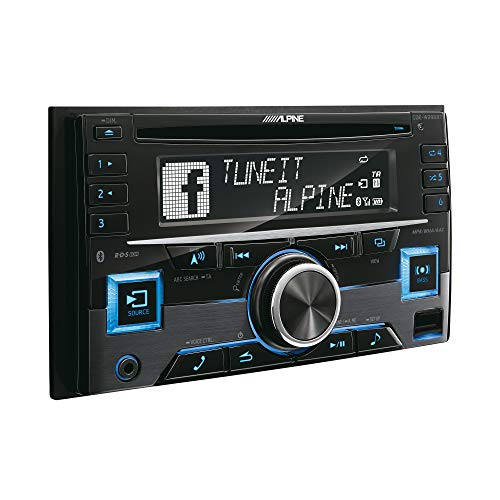 Alpine Electronics CDE-W296BT Autoradio Bluetooth 2DIN, Schwarz (RGB Beleuchtung)