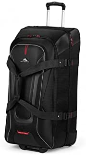 High Sierra At7 Range 81Cm Wheeled Drop Bottom Duffle Black - Travel Gym