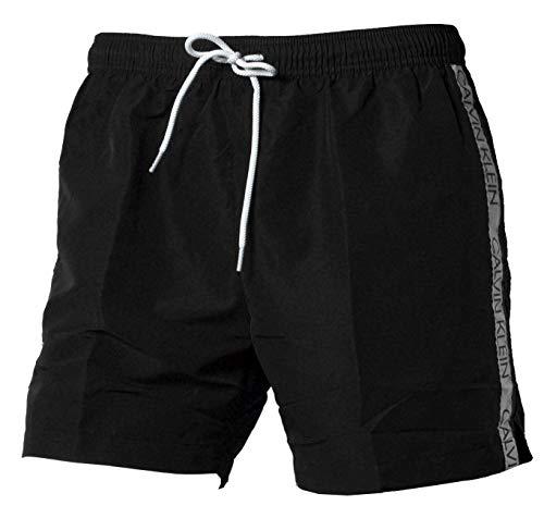 Calvin Klein Medium Drawstring Pantalones Cortos, Negro (Pvh Black Beh), Small (Pack...
