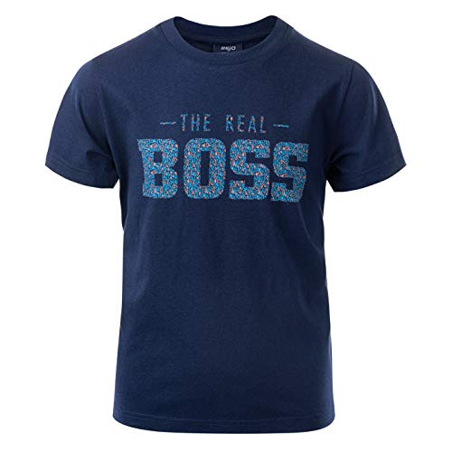 BEJO Jungen Quote JRB T-Shirt, Medieval Blue, 152