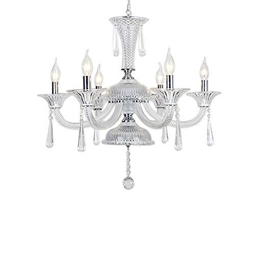 Kerzenleuchter Lüsterlampe Kristall Pendel Lampe Glas Kristallleuchte Modern Einfache Hängelampe 8 Lichter