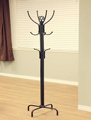 Frenchi Home Furnishing Metal Coat Rack, Black