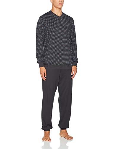 Seidensticker Herren Anzug Lang Zweiteiliger Schlafanzug, Schwarz (Kohle 003), Large (Herstellergröße: 52)