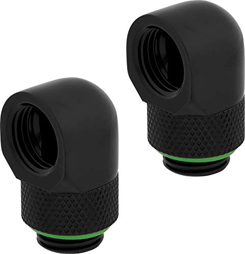 Corsair Hydro X Series 90° Rotary Adapter Twin Pack, Black, Model Number: CX-9055009-WW