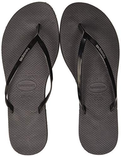 Havaianas Damen You Metallic Zehentrenner, Schwarz (Black), 37/38 EU