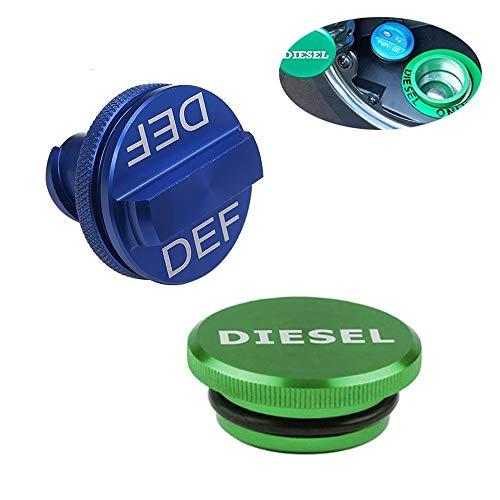 Yh-eu Diesel Fuel Cap, Magnetische Ram Diesel Billet Aluminium Fuel Cap en DEF Cap Combo voor 2013-2018 Dodge Ram Truck 1500 2500 3500 met nieuwe Easy Grip Design
