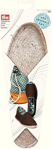 Prym 975206 Espadrilles-Sohlen Größe 42 Schuhsohle, Jute/Gummi, Natur, 26 x 10 x 2 cm