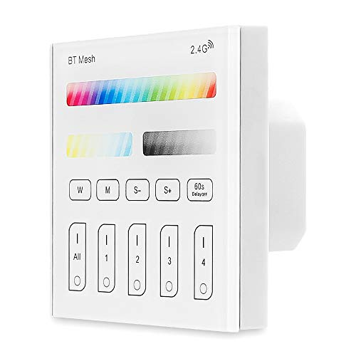 Bluetooth Mesh Smart Touch Panel 230 Volt Fernbedienung RGB/RGBW/Warmwhite+ CCT intelligenter Schalter für LED Einbaustrahle Leiste intelligentes Gerät usw.