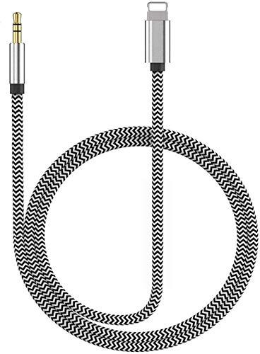 Cavo Aux per iPhone Cavo audio auto Jack da 3,5mm per iPhone per riprodurre musica Cavo Aux in auto per iPhone 8Plus/7/X/XS/XR/11/12 Autoradio/altoparlanti/cuffie e Tutto Il Sistema iOS