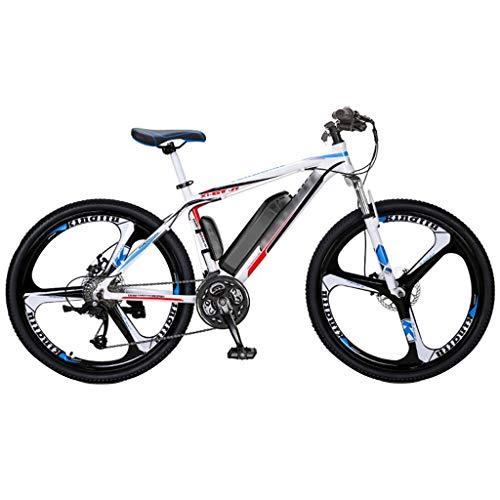 FFF-HAT Vélo électrique Hybride Multifonctionnel 27 Vitesses VTT Tout Suspendu, 26 Pouces,...