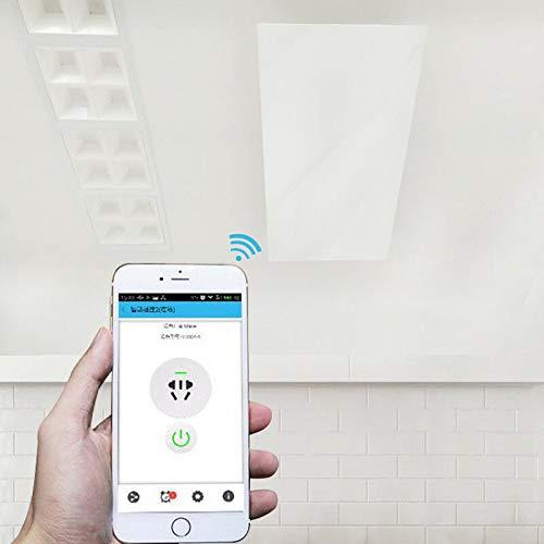 Infrarot-Speicherheizung Deckenmontage 1000 Watt mit WiFi Steuerung, Infrarotheizungen können den Raum als Ganzes oder lokal heizen | Deckenheizung ist absolut unschädlich