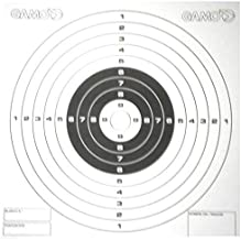 Gamo Air Rifle/Gun/Pistol bullseye pellet targets - set of 100 in stiff card for cone traps - standard 14cm square size (A...
