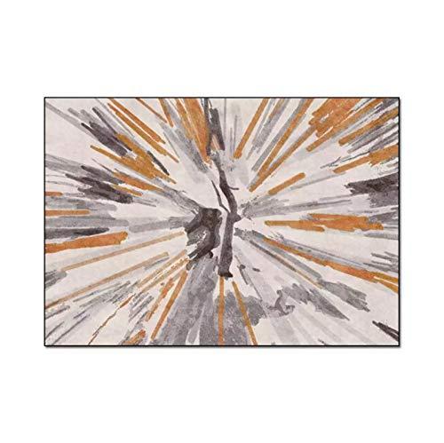 artkingdom Suave, Simple, Moderno, Abstracto, Pintura al óleo, Dormitorio, Alfombra, decoración del hogar, alfombras de guardería, tamaño 80 * 120 cm.