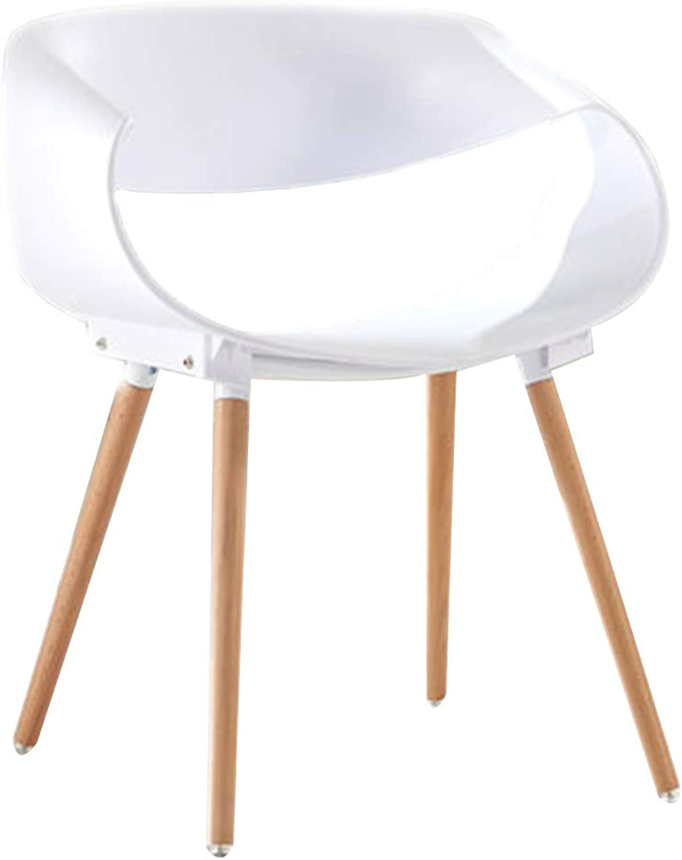Chair Chair Modern Simplicity Easy Assembly Beech Wooden Chair Leg Balcony Restaurant (color   E)
