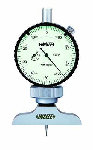 INSIZE 2341-E1 Dial Depth Gage, 0.001' Dial Indicator Graduation, 0' - 1.2'