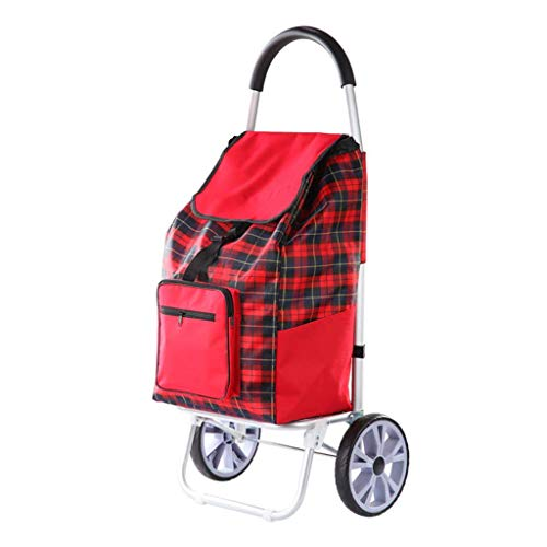 Shqybh Senioren können Treppen Einkaufswagen Trolley Trolley Supermarkt Aufstieg, stilvolle wasserdichte Oxford-Tuch, Strapazierfähige & Klappbar für einfache Lagerung