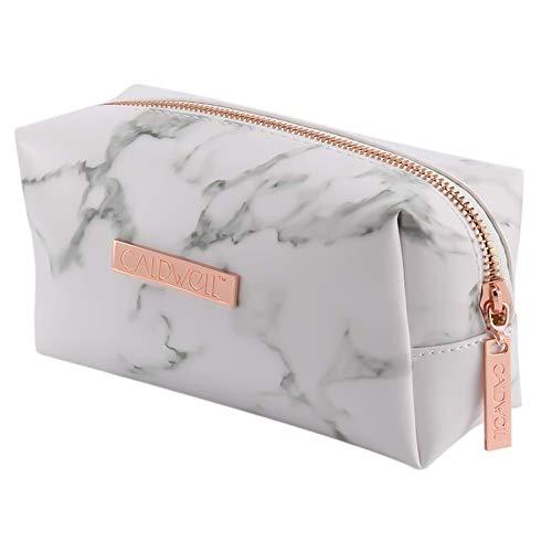 dgaf&bae Kosmetiktasche Klein Make Up Bag Marmor Kosmetiktaschen Klein FüR Damen Schminktasche Frauen geschenk(Roségold)