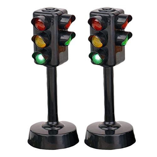 TOYANDONA Señales de Tráfico Lámpara de Juguete | Semáforos Juguete Seguridad Educación Juguete 2 Piezas