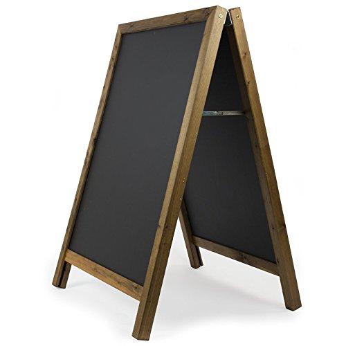 Kreidetafeln UK quadratisch Top EIN Rahmen Tafel, Holz, schwarz, 100x 70cm