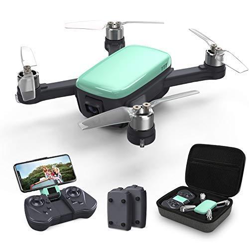 Holy Stone ドローン カメラ付き GPS搭載 2K HDカメラ 屋外 ブラシレスモーター 広角 収納ケース付き 小型 バッテリー2個 飛行時間32分 セルフィードローン SPORTモード フォローミーモード 生中継 高度維持 モード1/2自由転換可 国内認証済み HS166(グリーン)