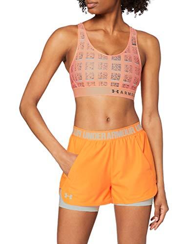 Under Armour Damen Play Up Short 2-in-1 Kurze Hose, Orange (Mango Orange Onyx White 492), S