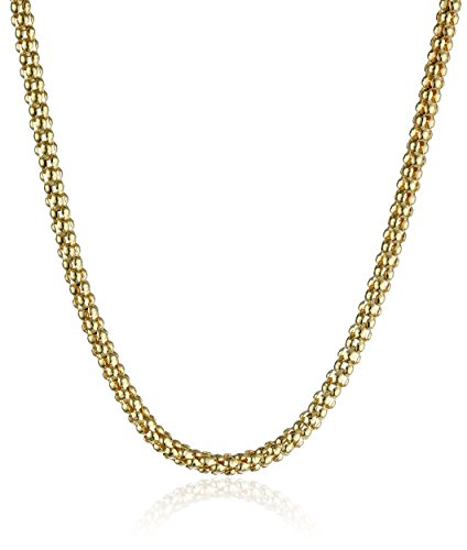 14k yellow gold popcorn chain - 1
