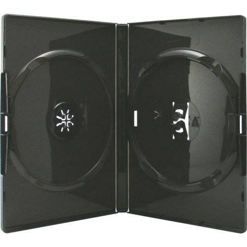 Amaray DVD Hüllen schwarz für 2 Discs, Face to Face, 50 Stück