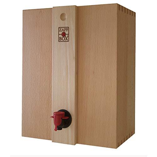 ZapfBox - 5 l - beuken - Bag in box systeem voor sapzakken en sapslangen - Made in Germany