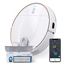 eufy RoboVac L70 Hybrid Saugroboter mit Wischfunktion, iPath Laser-Navigation, 2in1 Staubsauger und Wischmopp, WLAN, Kartendarstellung, 2200Pa Saugkraft, Geräuscharm für Hartböden& mittelhohe Teppiche©Amazon