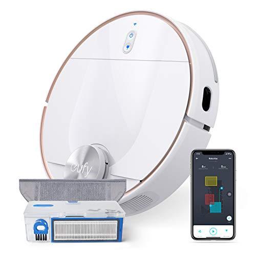 Aspirapolvere Robot eufy RoboVac L70 Hybrid, navigazione laser iPath, aspirazione e lavaggio con acqua 2 in 1, Wi-Fi, mappatura, 2200 Pa, per pavimenti in legno massello e tappeti a pelo medio