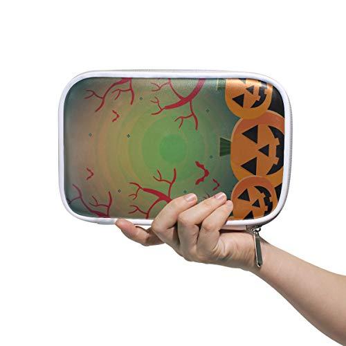 Schöne Frau Taschen Halloween Kürbis Spooky Tree Night Big Zipper Pencil Case Große Make-up Taschen Multifunktionale Große Kosmetiktaschen Für Frauen Für Männer Frauen