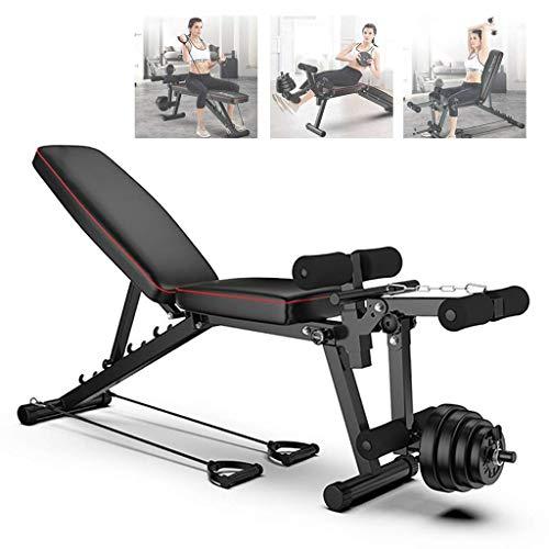 Banco de Pesas Ajustable de Fitness 4 en 1 Banco de Abdominales Plegable Ejercicio Músculos Abdominal Casa,Banco de Musculación Multifunción para Entrenamiento de Cuerpo Entero GJXJY-001