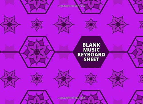 Blank Music Keyboard Sheet: Blank Piano Music Workbook Composition Notebook, Gifts for Musicians, Students, Artiste, Songwriters, Musicians, and Many ... Notebook, 110 Pages. (Keyboard Notebook)