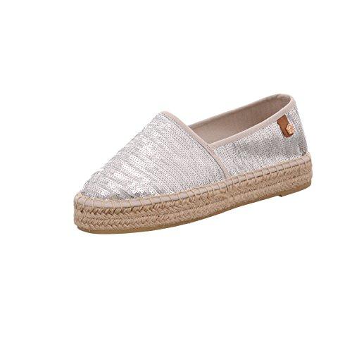 Tamaris Schuhe 1-1-24602-28 Bequeme Damen Slipper, Halbschuhe, Sommerschuhe für modebewusste Frau, Trend metallic (Silver Sequins), EU 40