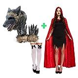Desconocido Caperucita Roja y Traje de Pareja de Lobo Disfraces de Halloween