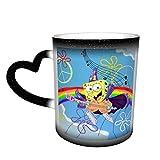 Rainbow Peace and Rock Spongebob Squarepants Tazza da caffè in ceramica che cambia colore novità famiglia amanti, amici ufficio e casa regalo di salute