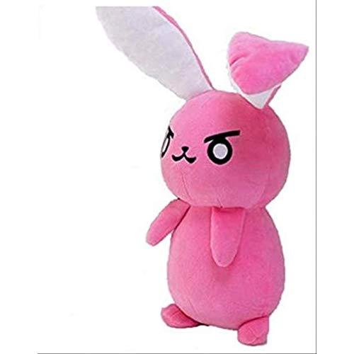 LDDZAU 1 Pcsgame Overwatch Pink DVA Bunny Peluche de Juguete Suave DVA Almohada Sofá Infantil Cojín Juguete Cosplay Regalo 50cmE