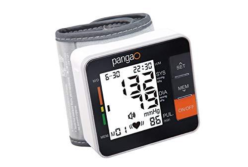 Pangao A11 Vollautomatisches Blutdruckmessgerät, Blutdruck und Pulsmessung am Handgelenk, Warnfunktion bei Herzrhythmus-Störung