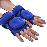 KLOP256 Gewichtshandschuhe, 1 Paar Sport Fitness Gym atmungsaktiv Training Hand Sandsack Gewicht Lager Handschuhe, nicht null, blau, Free Size