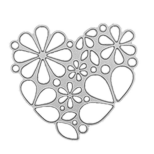 RG-FA - Plantillas de corte de acero al carbono con forma de corazón y flor de acero al carbono para troquelado, plantillas para manualidades, tarjetas de scrapbookmark