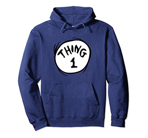 Dr. Seuss Thing 1 Emblem Color Option Pullover Hoodie
